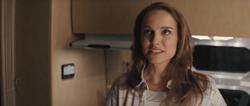 Jane in her camper