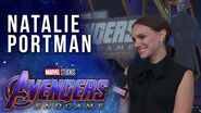 Natalie Portman talks girl power in the Marvel Universe LIVE from the Avengers Endgame Premiere