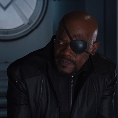Fury le habla a Rogers acerca de la Iniciativa Vengadores.