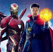 Iron Man and Doc Strange Infinity War