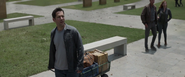 Scott Lang visits Vanished Memorial