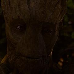 Groot dispuesto a sacrificarse por sus amigos.