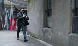 Murdock walks down