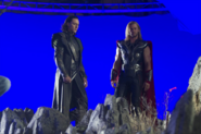 The Avengers Behind the Scenes photos 10