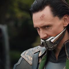 Loki después de ser derrotado y arrestado.