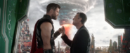 Thor and Bruce Fist Bump