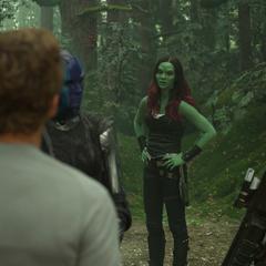Gamora reprende a Quill