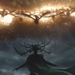 Hela se prepara para atacar a las Valquirias.