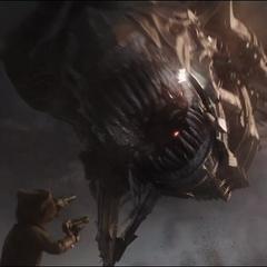 Rocket confronta a un Leviatán.