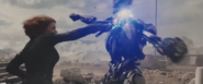 Black Widow Taking Out An Ultron Sentry