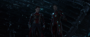 Iron Spider Man & Iron Man (Q-Ship)