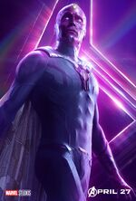 Vision Avengers Infinity War Poster