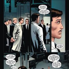 Stane y Stark durante el arresto de Vanko.