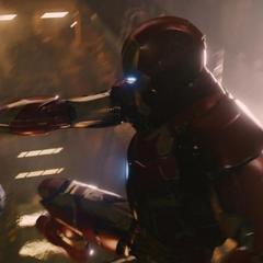Stark confrontando a Ultrón.
