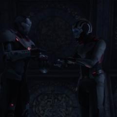 Rhodes y Nebula roban la Gema del Poder en Morag.