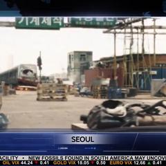 La devastación en Seúl es exhibida por <i>WHIH Newsfront</i>.