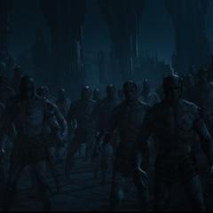 Los jotuns rodean a los asgardianos.
