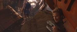 Star-LordSneakingUpOnThanos
