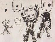 Baby Groot concept art 6