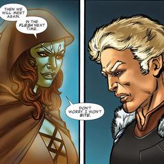 Gamora hace un trato con Tivan.