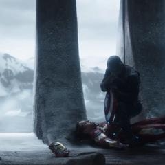 Rogers consigue vencer a Stark.
