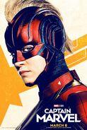 Captain Marvel Mask Poster