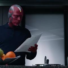 Visión intenta preparar la comida.