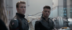 Captain America and Hawkeye