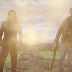 Thor y Loki presencian el fallecimiento de Odín.
