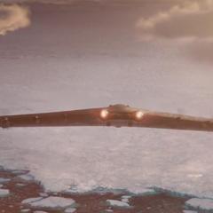 Rogers dirige la <i>Valquiria</i> al Ártico.