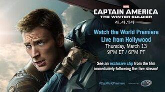 Marvel's Captain America The Winter Soldier - Live Red Carpet Trailer