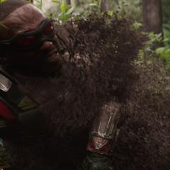 Wilson se desintegra tras el chasquido de Thanos.