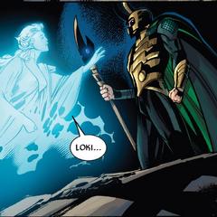 Loki trata de ignorar a Frigga.