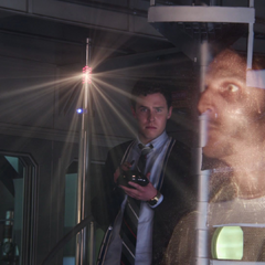 Fitz crea un holograma de la explosión.