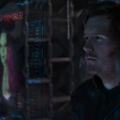 Quill se embarca en la búsqueda de Gamora.