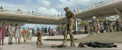 Rocket, Groot & Gamora (Xandar)