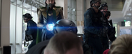 Loki steals the Tesseract