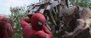 Spider-Man saves Iron Man (Infinity War)