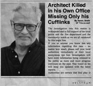 Architect Killed in his Own Office Cufflinks