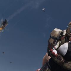 Stark comienza a rescatar a los pasajeros.