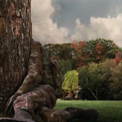Blonsky se estrella contra un tronco.