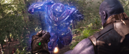 Thanos stops Hulkbuster (Space Stone)