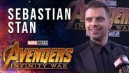 Sebastian Stan Live at the Avengers Infinity War Premiere