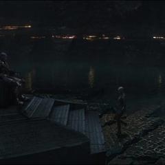 Thanos esperando a Nebula.