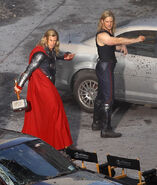The Avengers Behind the Scenes photos 11