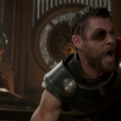 Thor pierde su ojo a manos de Hela.