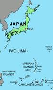 Map of Iwo Jima