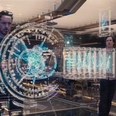 Banner y Stark trabajando en el Programa Ultrón.