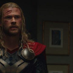 Thor saluda a Selvig.