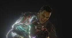 Hulk holds the Iron Gauntlet